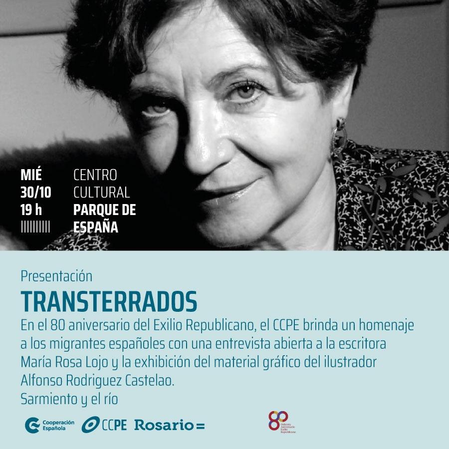 """""""Transterrados"""": ciclo sobre el exilio republicano se inaugura en Rosario con una entrevista pública a María Rosa Lojo y muestra de Castelao"""