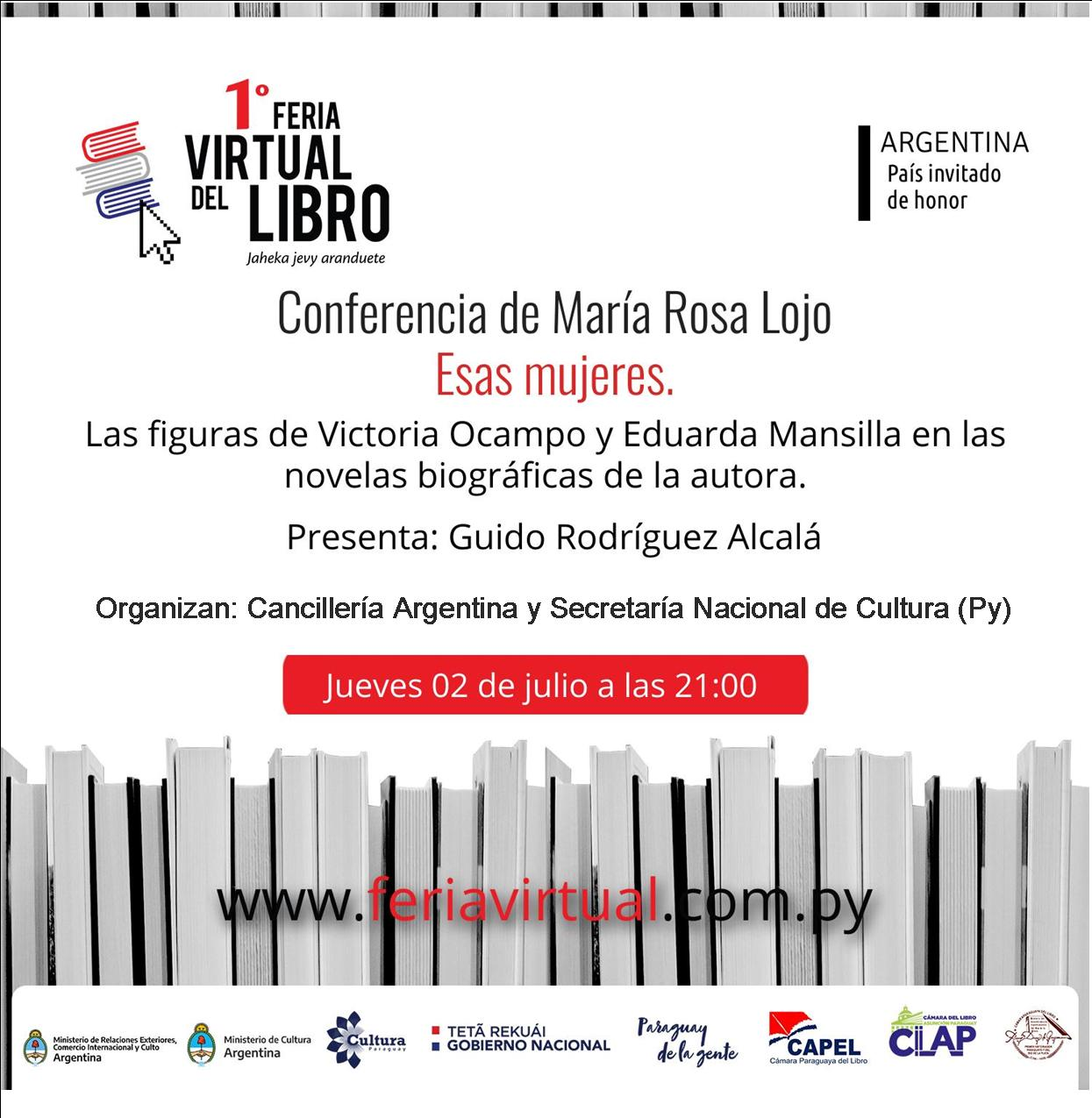 Conferencia de María Rosa Lojo en la Feria Virtual del Libro de Paraguay