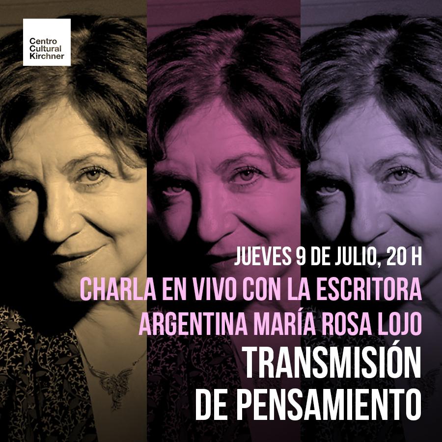"María Rosa Lojo conversa con Gabriela Borrelli Azara en ""Transmisión de pensamiento"", CCK"