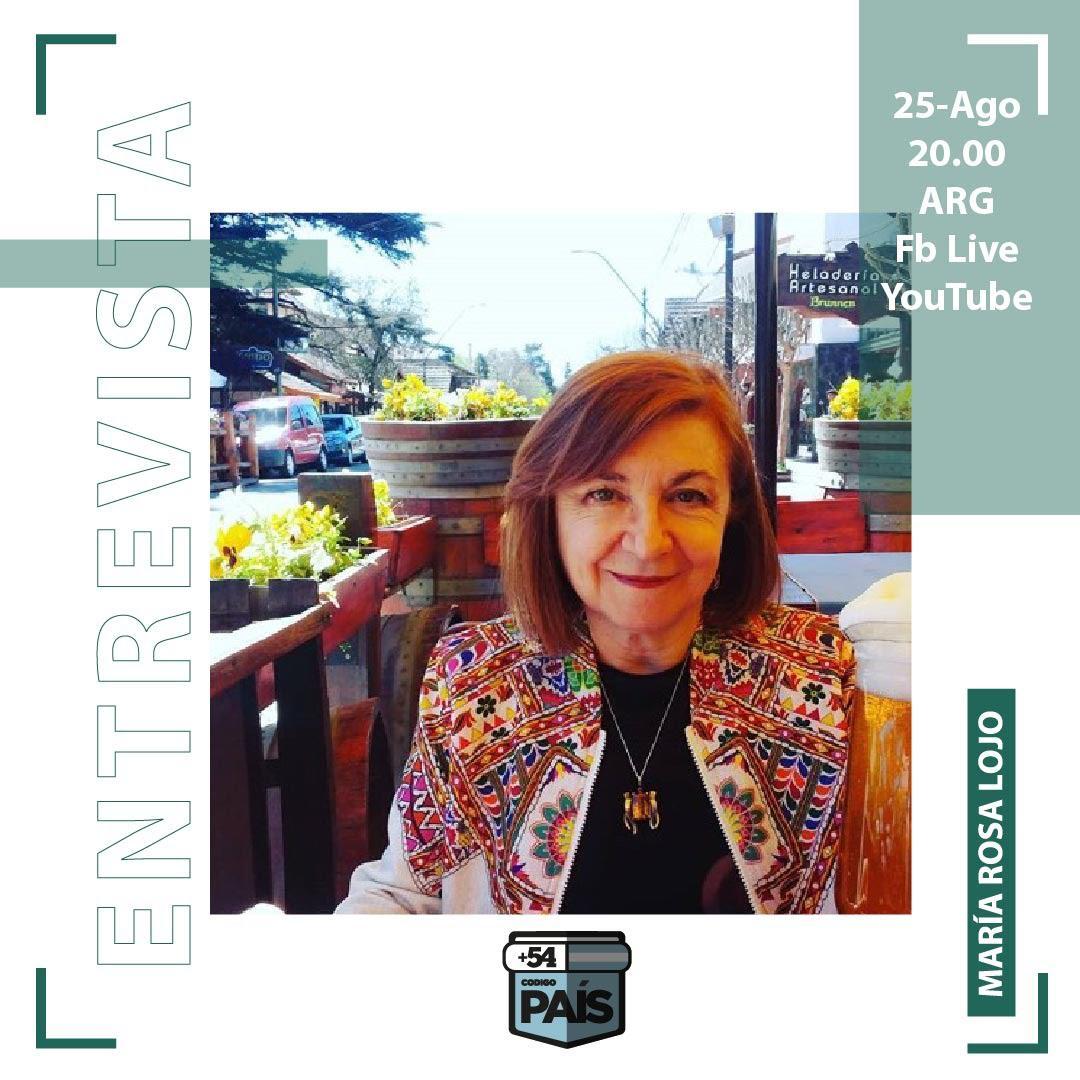 Conversaciones con María Rosa Lojo en +54 Código País. Conducción de Julián Ponisio