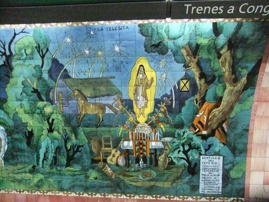 Mural de la Estación Bulnes. Buenos Aires