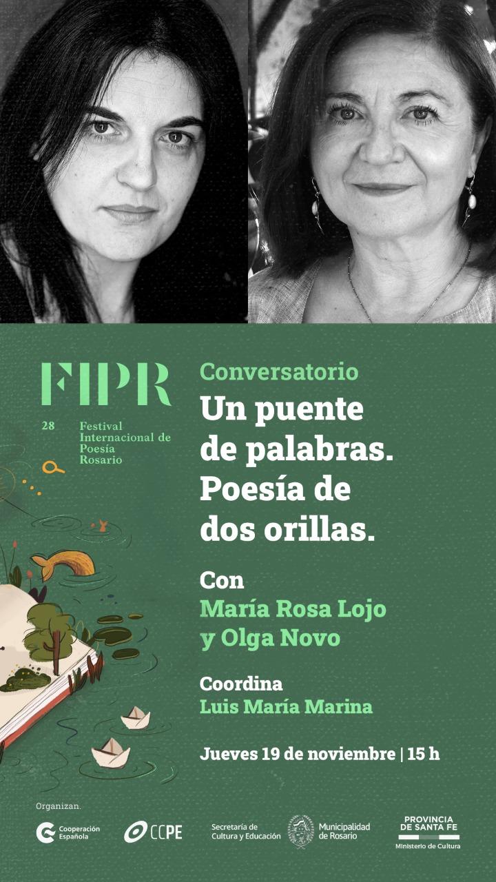 """Conversatorio """"Un puente de palabras. Poesía de dos orillas"""". Diálogo y lecturas de María Rosa Lojo y Olga Novo"""