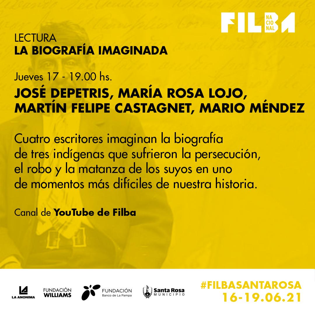 """María Rosa Lojo en el FILBA Nacional. Mesa """"La biografía imaginada"""". 17 de junio"""